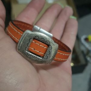 Jewelry - Sterling/Leather Handmade bracelet